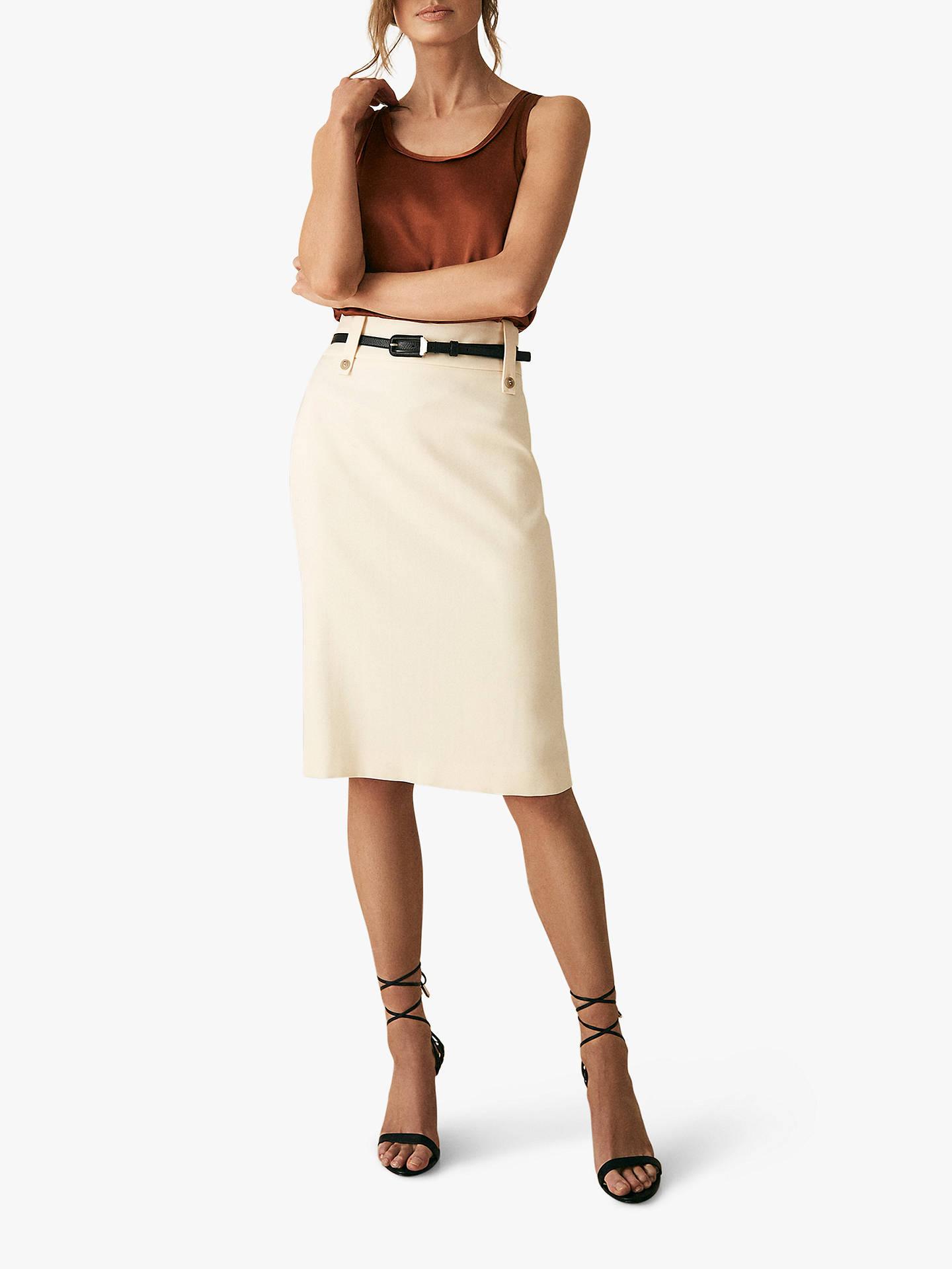 a466d61980 ... Buy Reiss Lennox Pencil Skirt, Off White, 6 Online at johnlewis.com ...