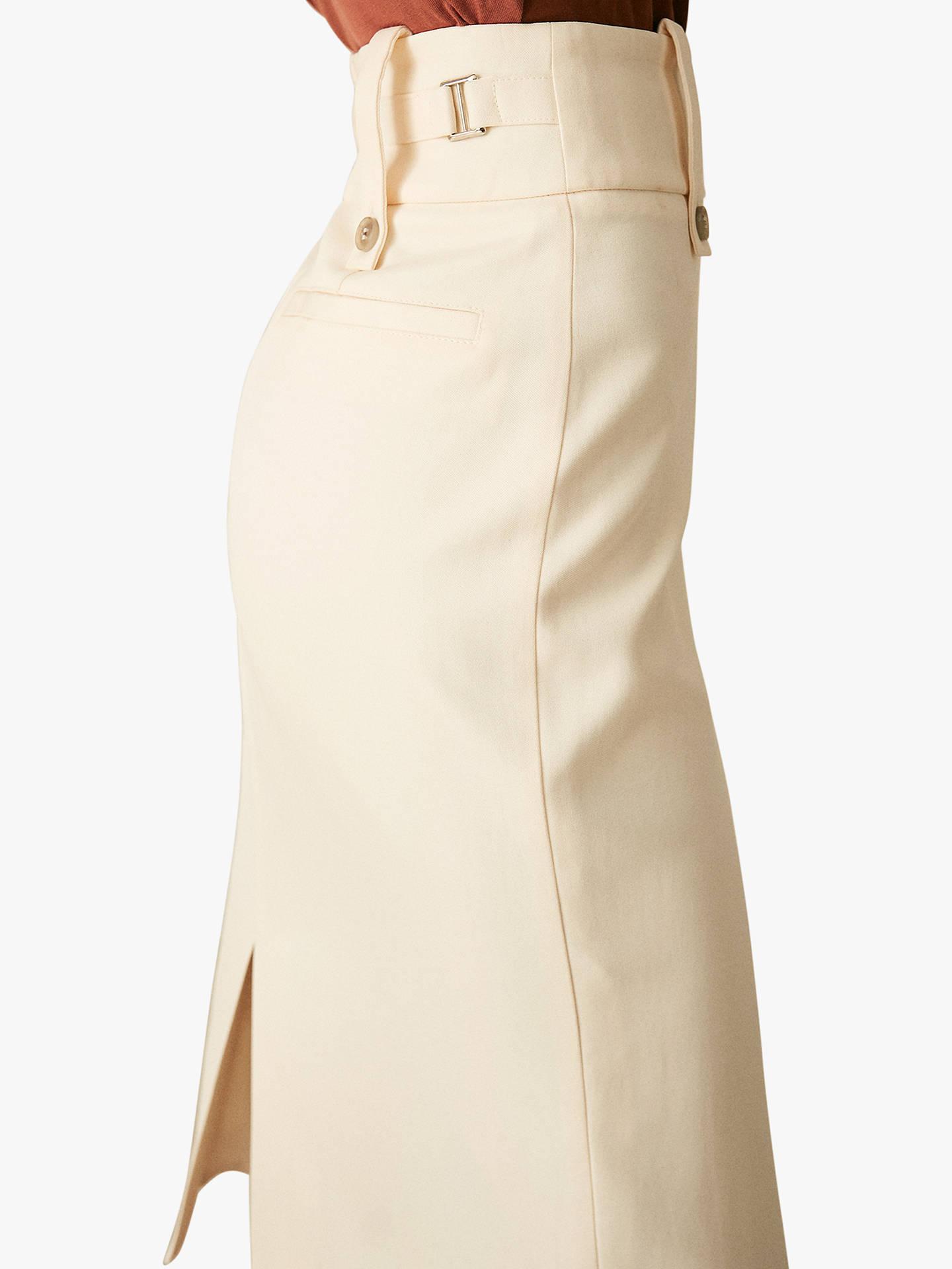 f02a5c1590 ... Buy Reiss Lennox Pencil Skirt, Off White, 6 Online at johnlewis.com