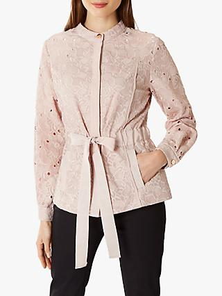 Coast Hazel Embroidered Lace Jacket, Pink