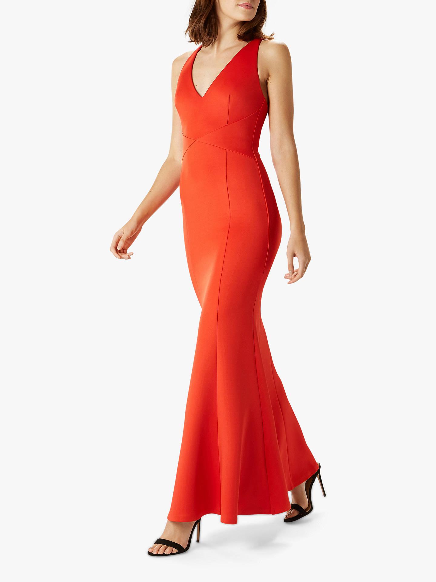 c8b4ec5f7105 Buy Coast Aggie Scuba Tailored Maxi Dress, Red, 16 Online at johnlewis.com  ...