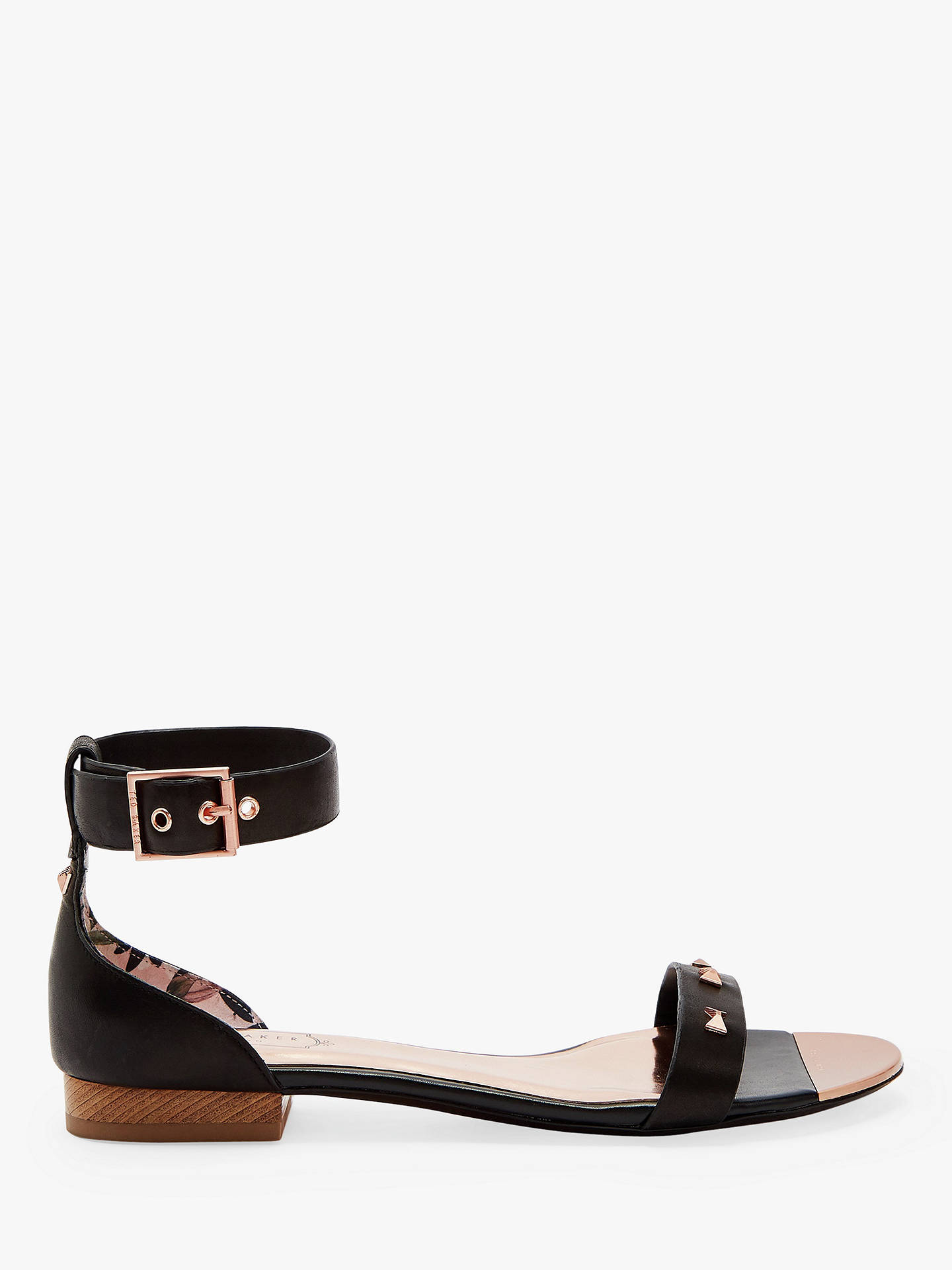 e924bc4997ef Ted Baker Ovey Stud Low Block Heel Sandals at John Lewis   Partners