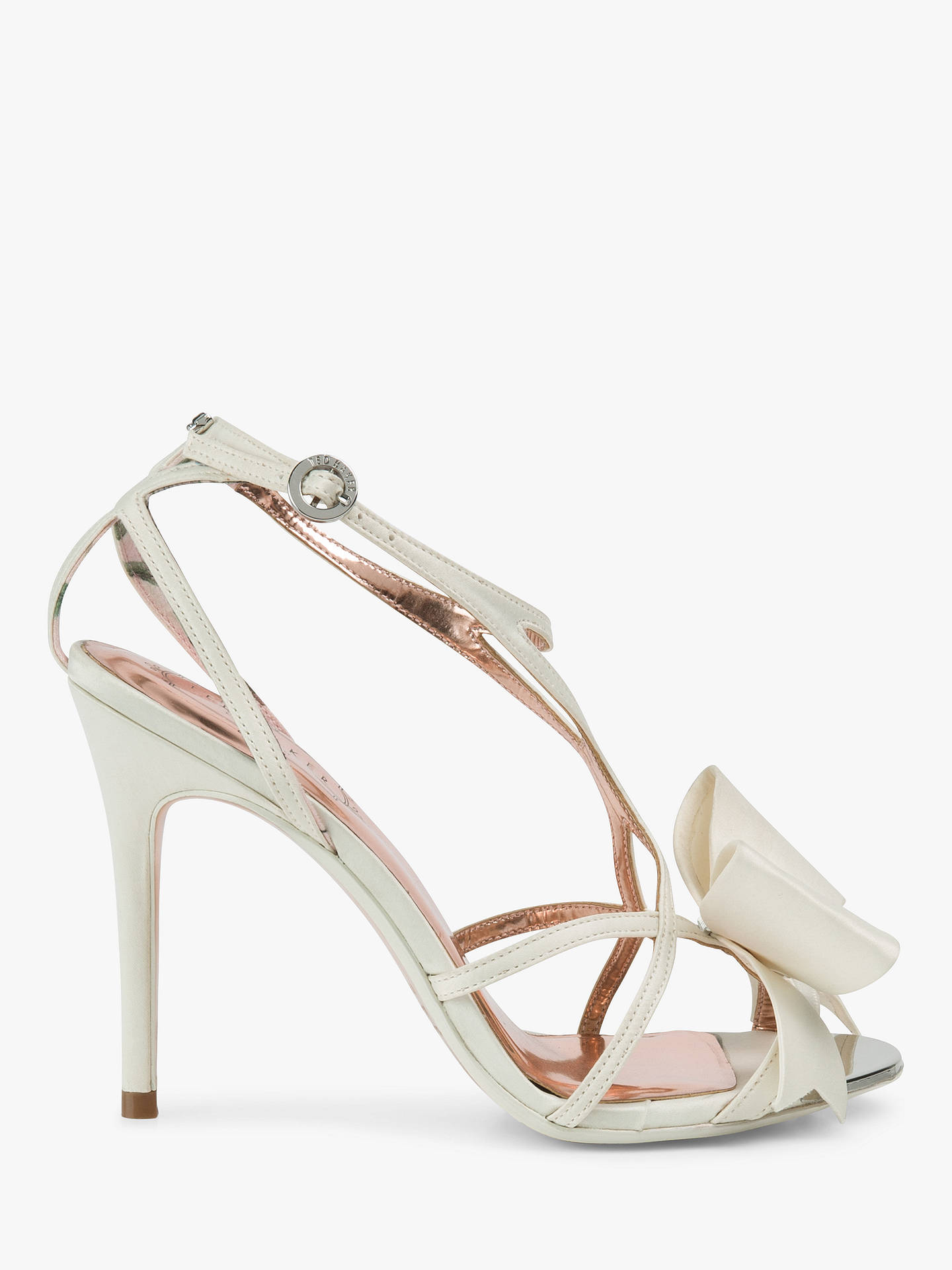 336564b72f3 Ted Baker Arayis Bow Stiletto Heel Sandals at John Lewis   Partners