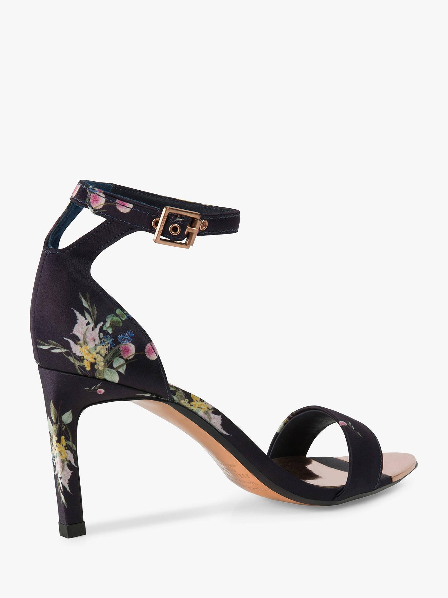 3c1249e054 ... Buy Ted Baker Ulaniip Stiletto Heel Sandals, Navy, 6 Online at  johnlewis.com