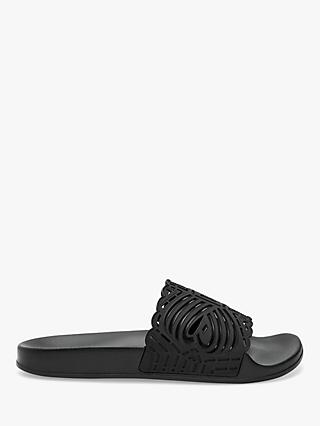 Ted Baker Issley Laser Cut-Out Slider Sandals, Black