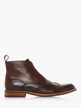 33b459ff57f1 Dune Marila Leather Brogue Boots