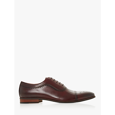 Dune Sandalwood Leather Oxford Shoes