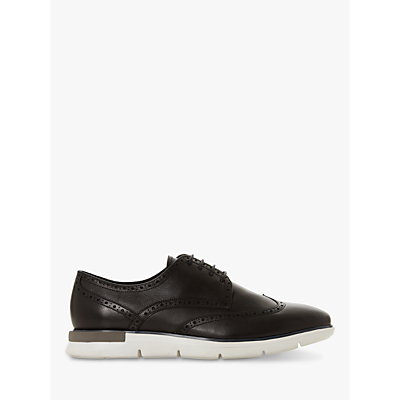 Dune Brandt Leather Brogues, Black Leather