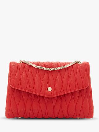 c775529837e Dune Barry Wave Quilted Chain Strap Clutch Bag