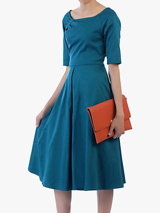 Jolie Moi Scoop Neck Swing Dress, Teal