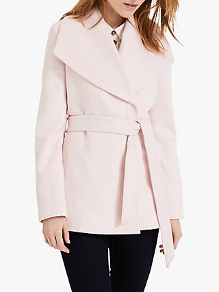 Phase Eight Nicci Short Belted Coat, Pale Pink