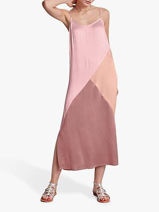 hush Colour Block Slip Dress, Pinks