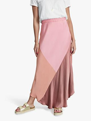 hush Colour Block Maxi Skirt, Pinks