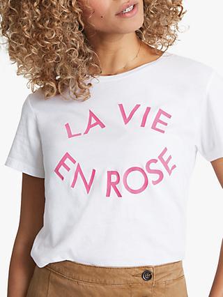 df68c62abed3 hush La Vie En Rose Slogan T-Shirt