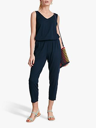 hush Cropped Jersey Jumpsuit, Midnight