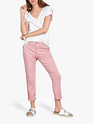 hush Girlfriend Chino Trousers, Washed Pink