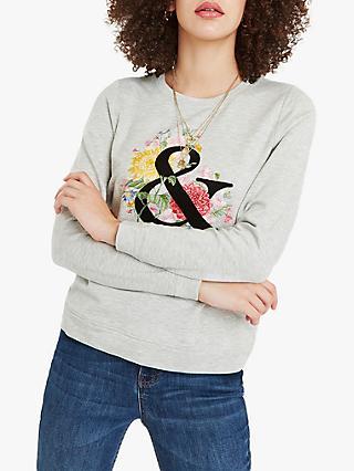 e0028a9159ffd Oasis Ampersand Floral Print Sweatshirt