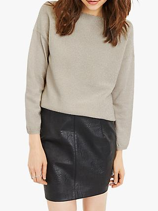Oasis Batwing Sleeve Metallic Jumper