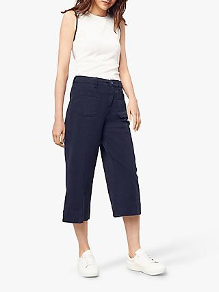 Oasis Cotton Chino Cropped Wide Leg Trousers bb1ae3f0d