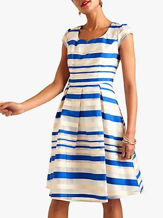 Yumi Stripe Organza Dress, Blue