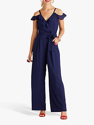 150e93a1365 Yumi Cold Shoulder Frill Jumpsuit