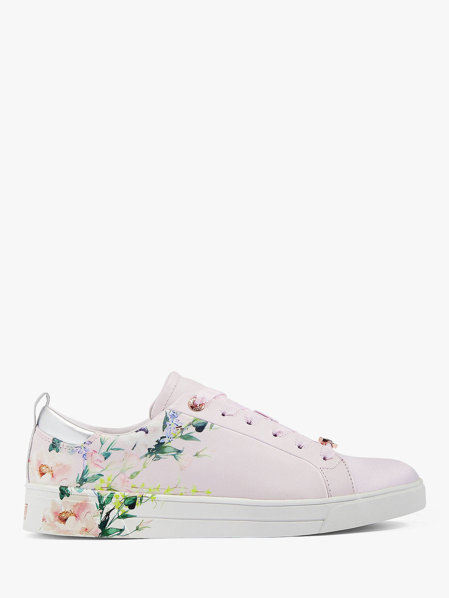 8388abf39b7 Buy Ted Baker Rialy Printed Tennis Trainers, Light Pink, 4 Online at  johnlewis.