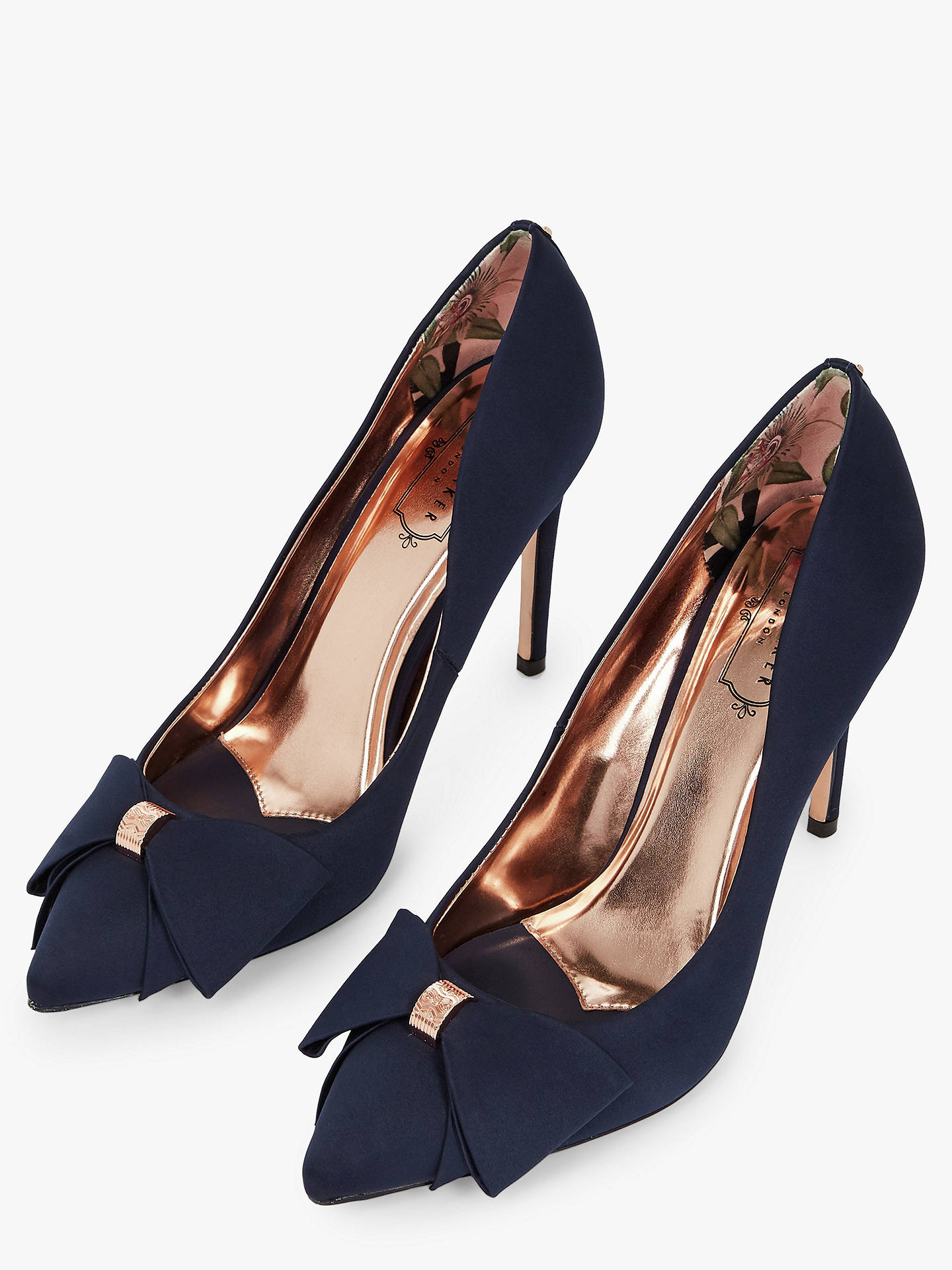 91ff9d754 ... Buy Ted Baker Asellys Stiletto Heel Bow Court Shoes