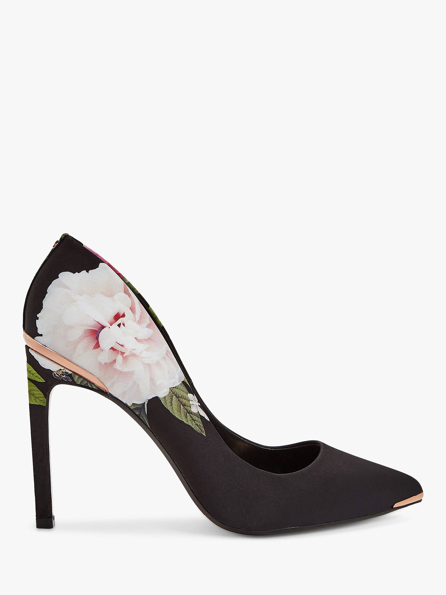 dc71b0f6fcf Ted Baker Melnip Floral Stiletto Heel Court Shoes, Black/Multi