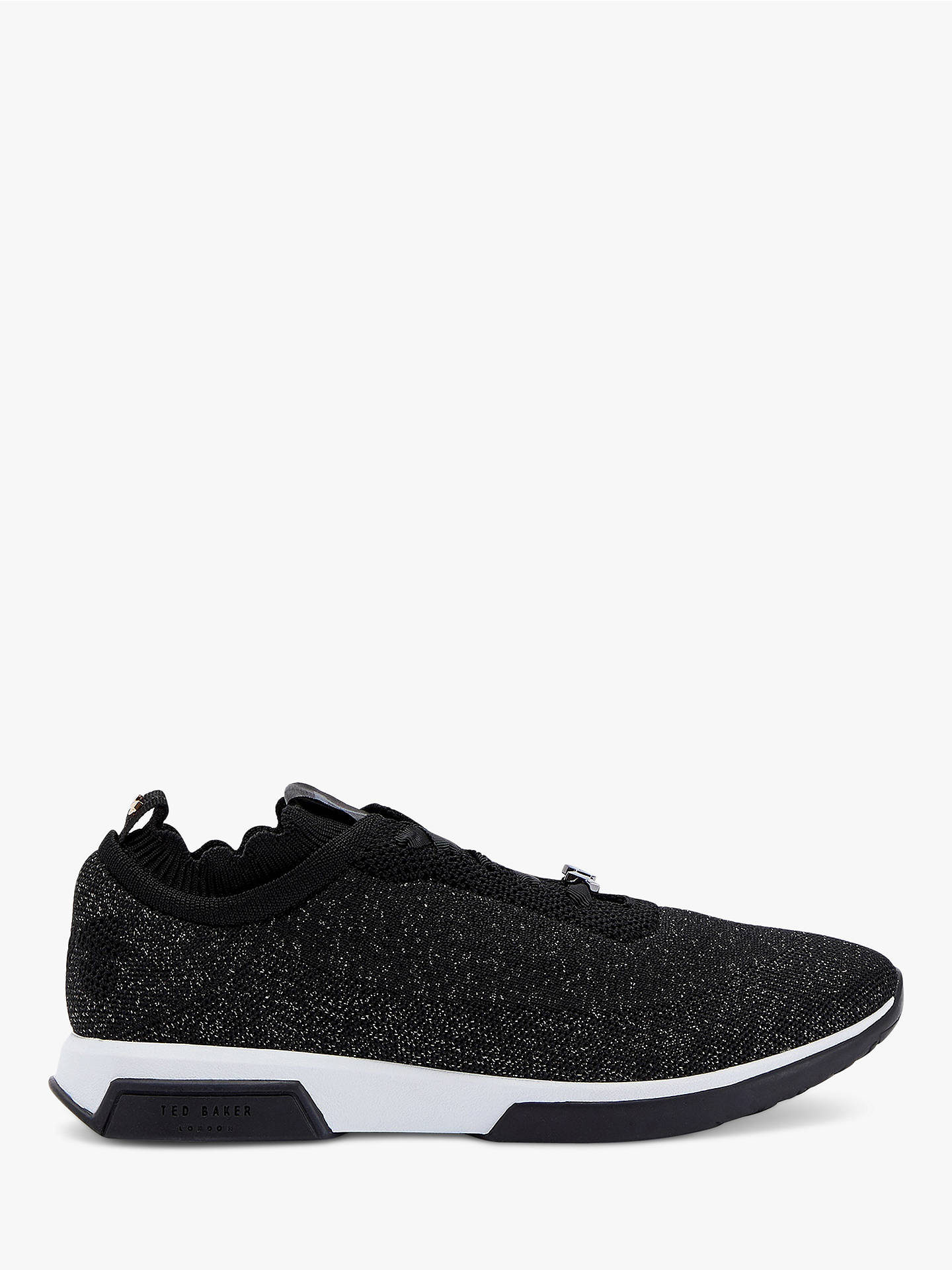74414aab03b Buy Ted Baker Lyara Knitted Trainers, Black, 3 Online at johnlewis.com ...