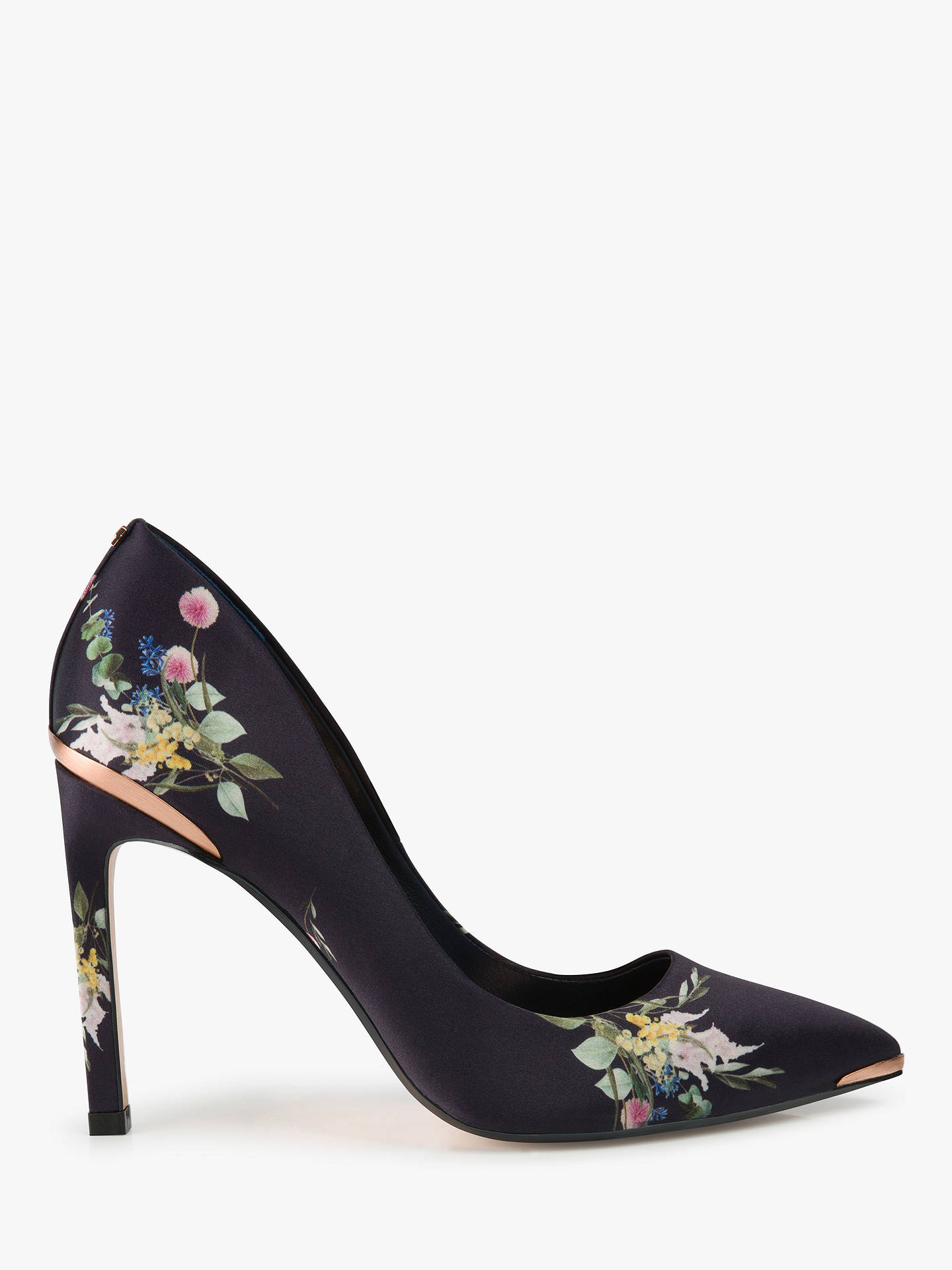 511a0934101 Buy Ted Baker Melnip Stiletto Heel Court Shoes, Navy/Multi, 7 Online at ...