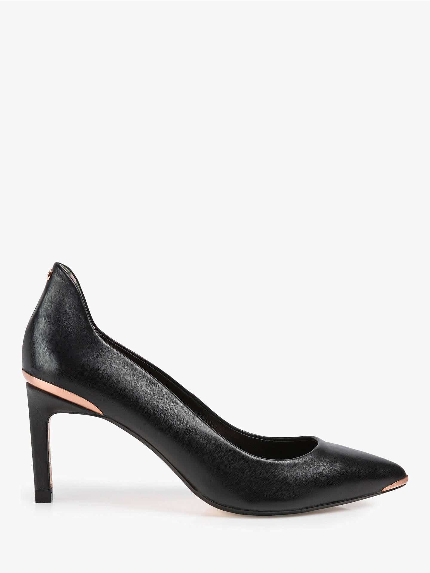 74de496f079 Ted Baker Eriin Pointed High Heel Court Shoes, Black Leather at John ...