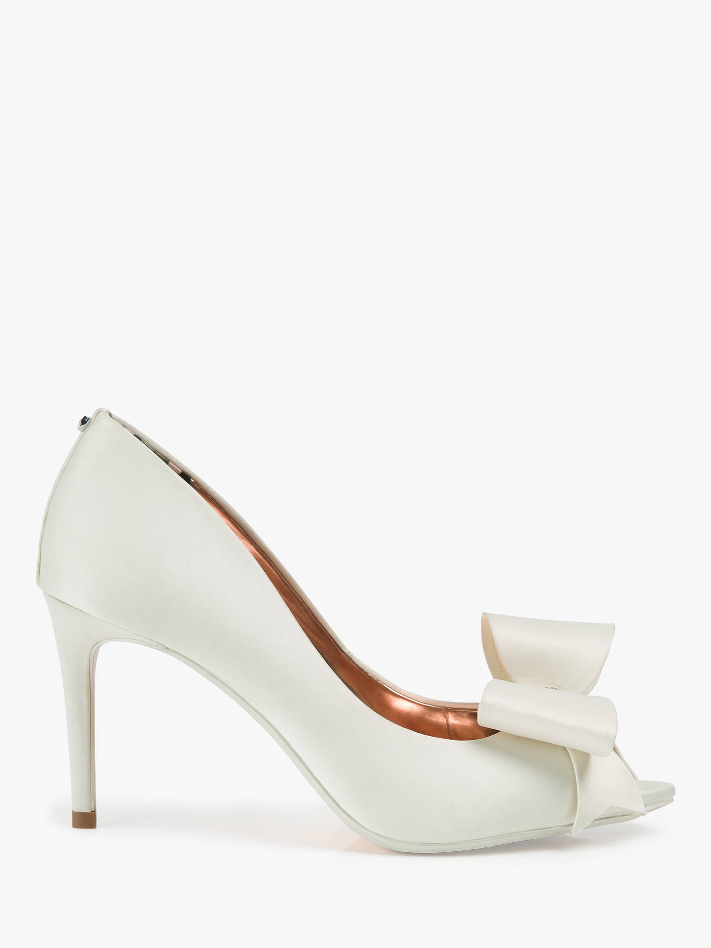 54ce83721f Ted Baker Nualas Bow Heel Court Shoes, Ivory