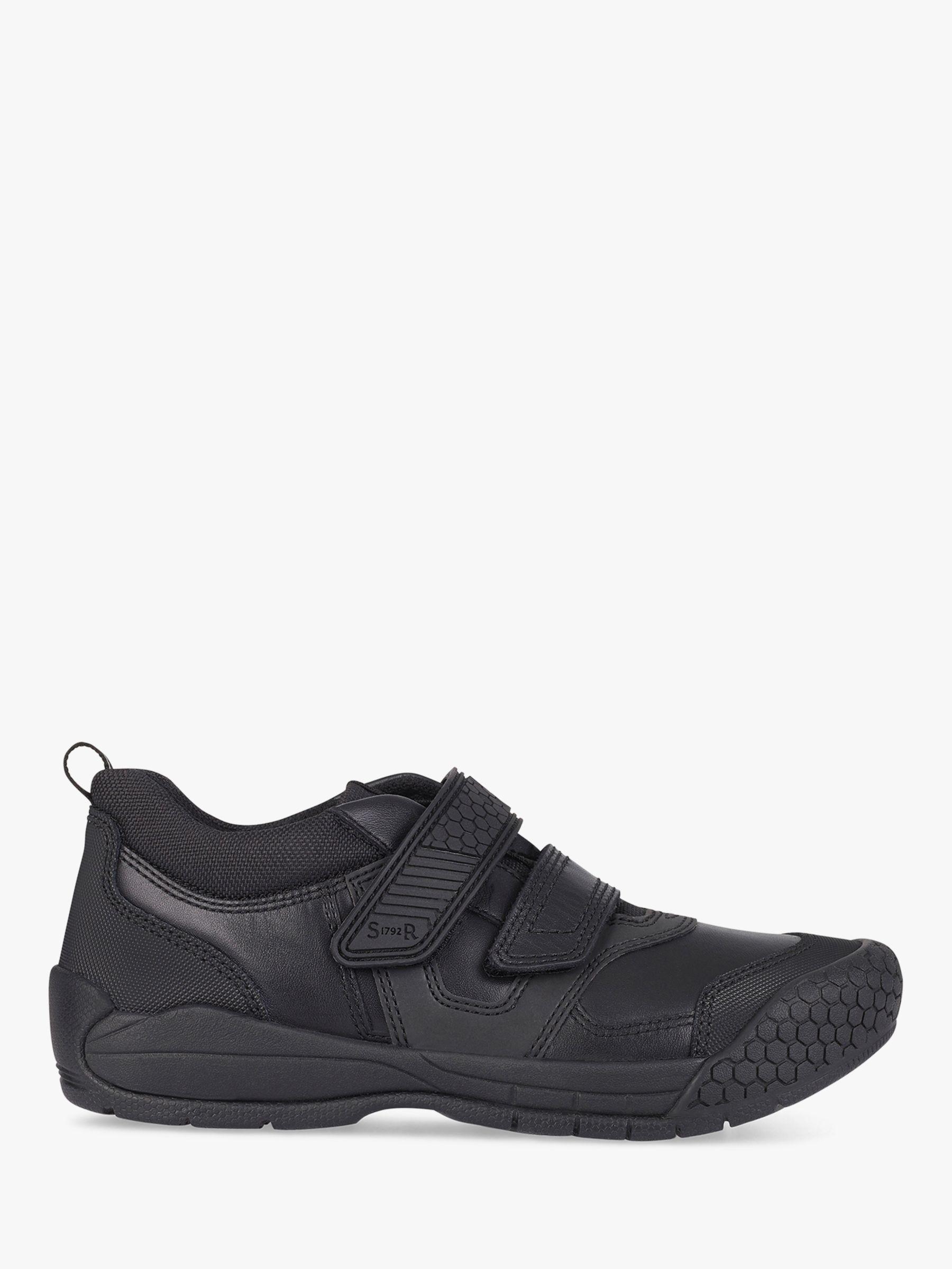 Start-Rite Start-rite Children's Strike Riptape Shoes, Black Leather