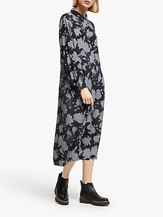 Kin Hatari Floral Shirt Dress, Black