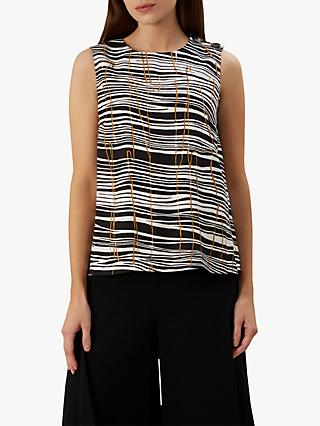 Hobbs Carla Sleeveless Top, Black/Multi