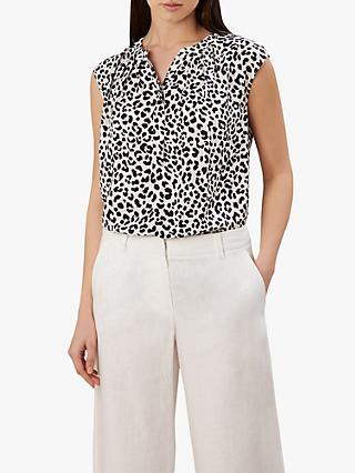 349b6d0337d0f1 Hobbs Lillie Animal Print Blouse