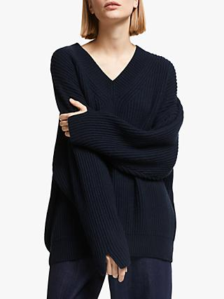Kin V-Neck Jumper, Blue