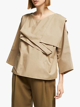 Kin Drape Layered Top, Natural