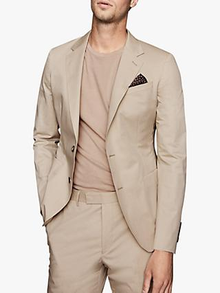Reiss Scholar Tailored Fit Suit Jacket, Stone