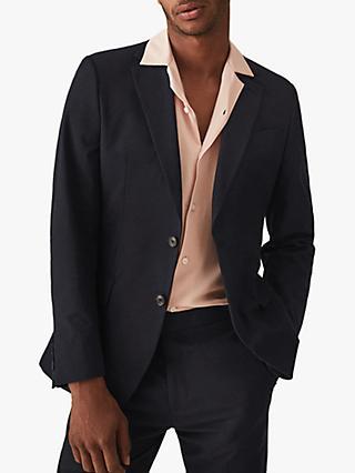 buy popular 08439 5eaff Reiss Proctor Seersucker Slim Fit Suit Jacket, Navy
