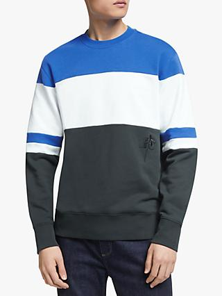 J.Lindeberg Hurl Colour Block Sweatshirt, Pop Blue