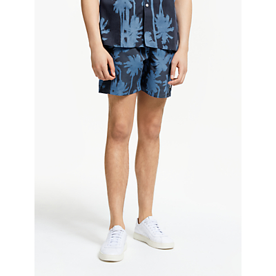 J.Lindeberg Banks Pattern Swim Shorts, Work Blue
