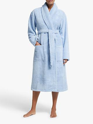 John Lewis & Partners Luxury Towelling Robe, Blue