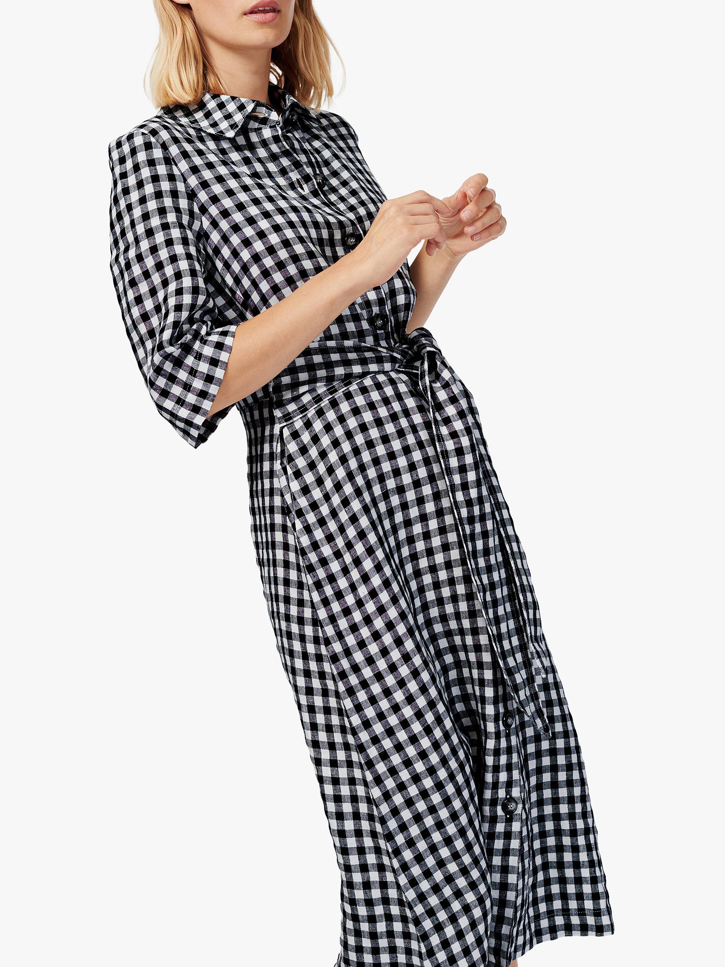 8ecd7fa4458 Buy Brora Gingham Check Linen Shirt Dress