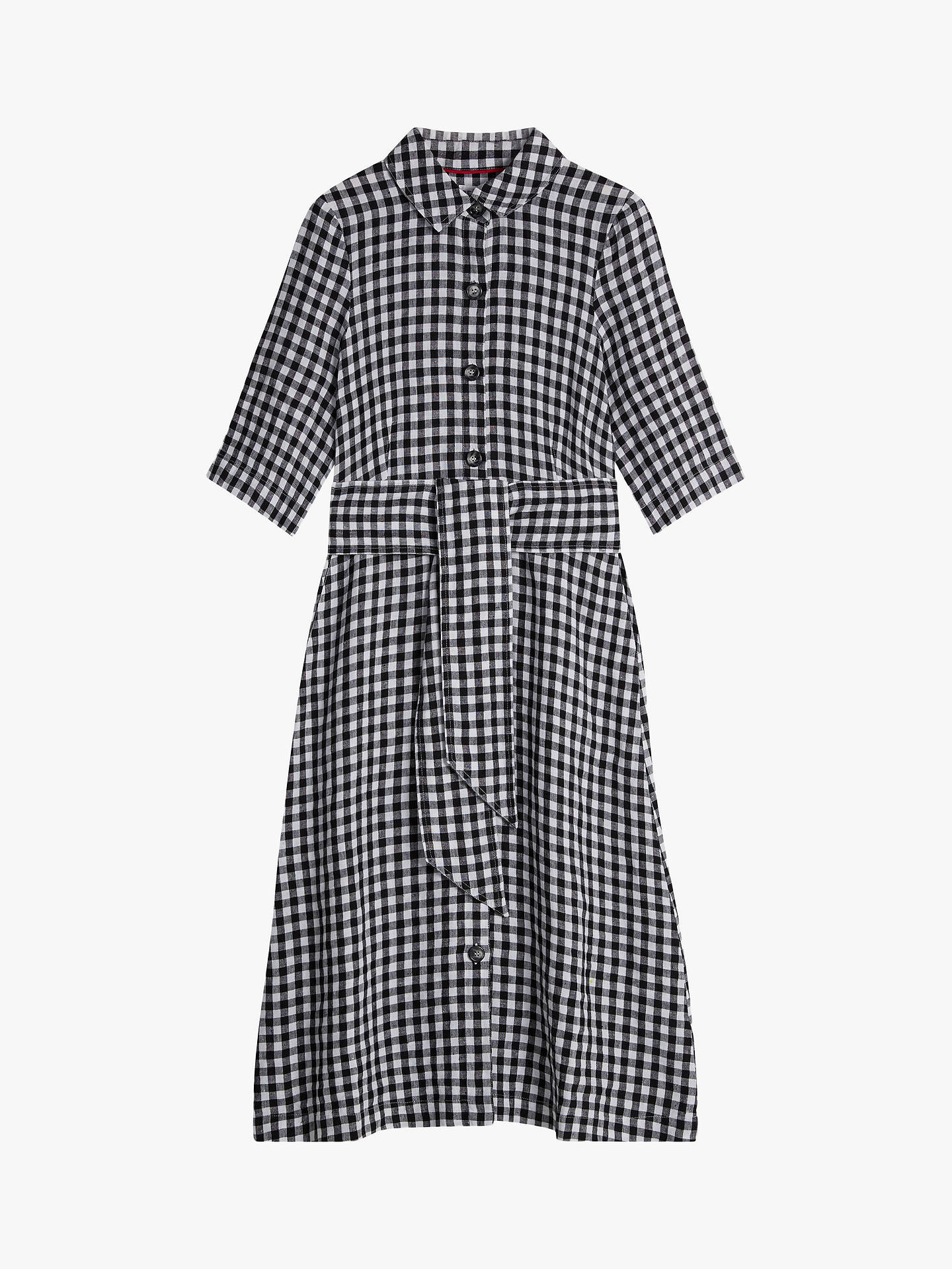 3d322621c2c ... Buy Brora Gingham Check Linen Shirt Dress