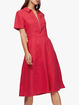 Brora Linen Zip Front Tennis Dress