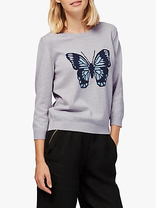 Brora Butterfly Jumper, Grey