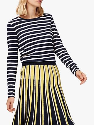 Brora Cotton Blend Striped T-Shirt