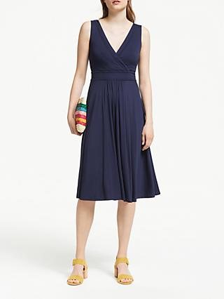 Boden Lorna Printed Jersey Dress, Navy