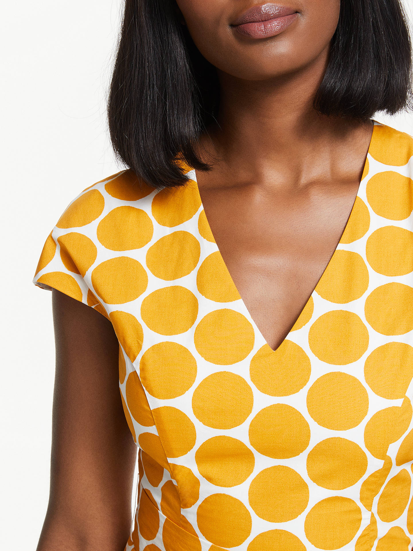 Buy Boden Tori Cotton Midi Dress, Ivory/Yellow, 8 Online at johnlewis.com