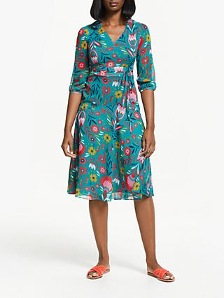 Boden Isabelle Midi Dress, Ultramarine/Multi